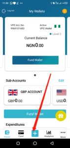 Withdraw money on VPD